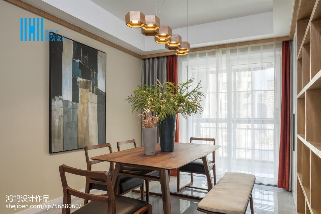 面积109平北欧三居餐厅装修图片