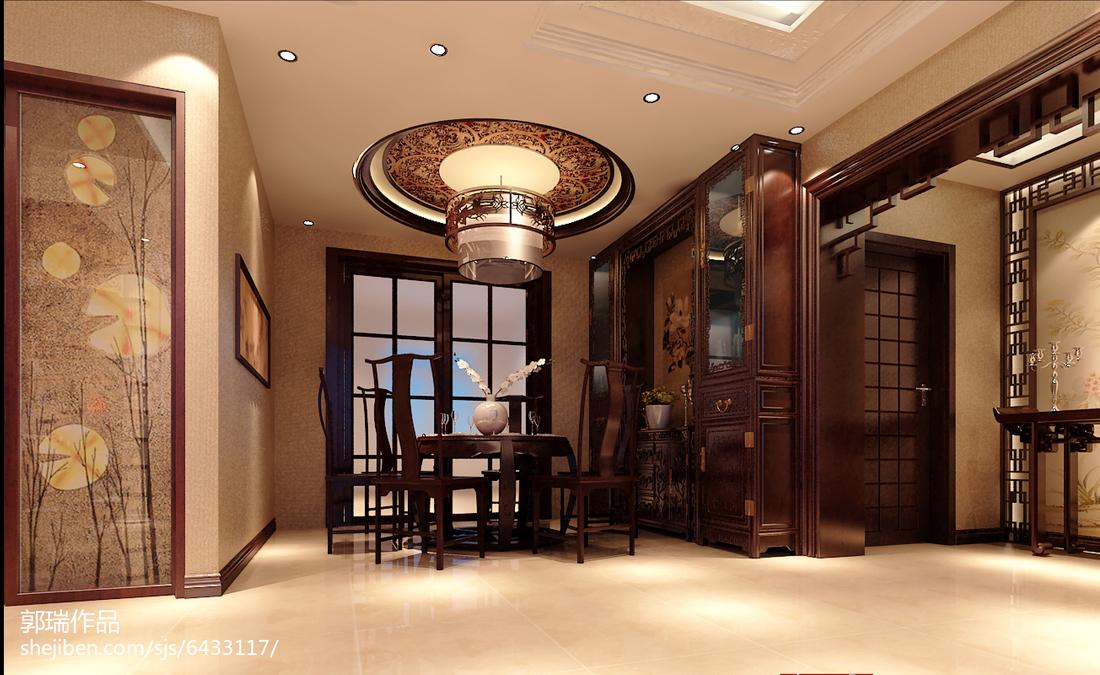 122平米中式别墅餐厅欣赏图片大全
