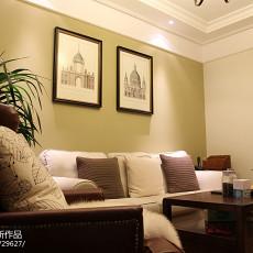 精选84平米二居客厅美式装修效果图片大全