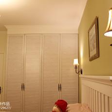 2018精选面积74平美式二居卧室装修效果图片大全