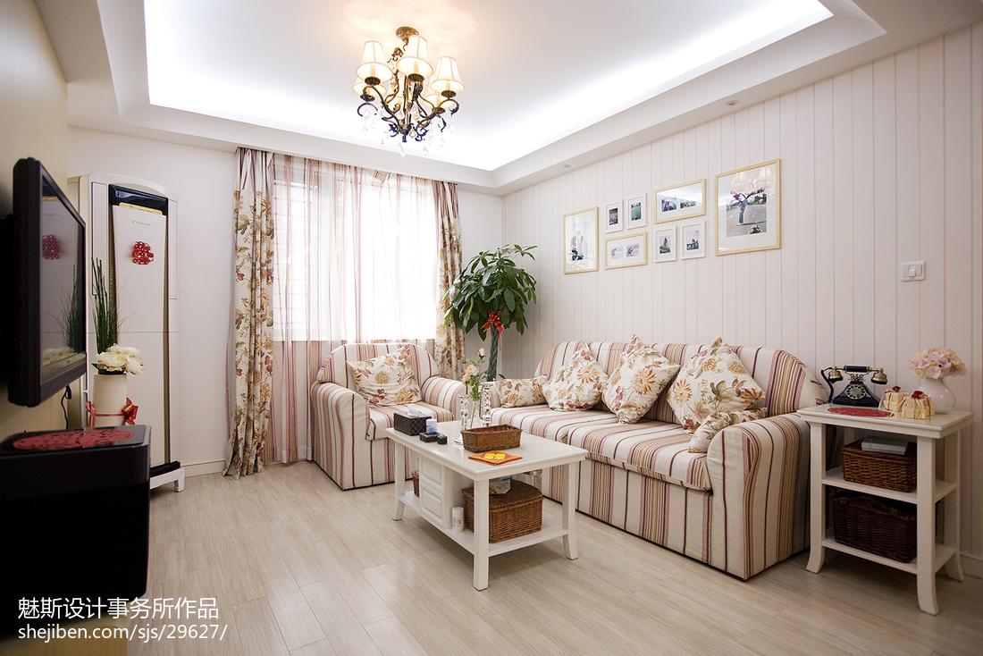 精选二居客厅美式装修图