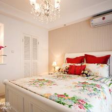 优美77平美式二居卧室实拍图