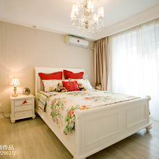 2018精选面积87平美式二居卧室装饰图片欣赏