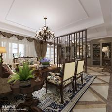 热门98平方三居客厅美式装修效果图片欣赏