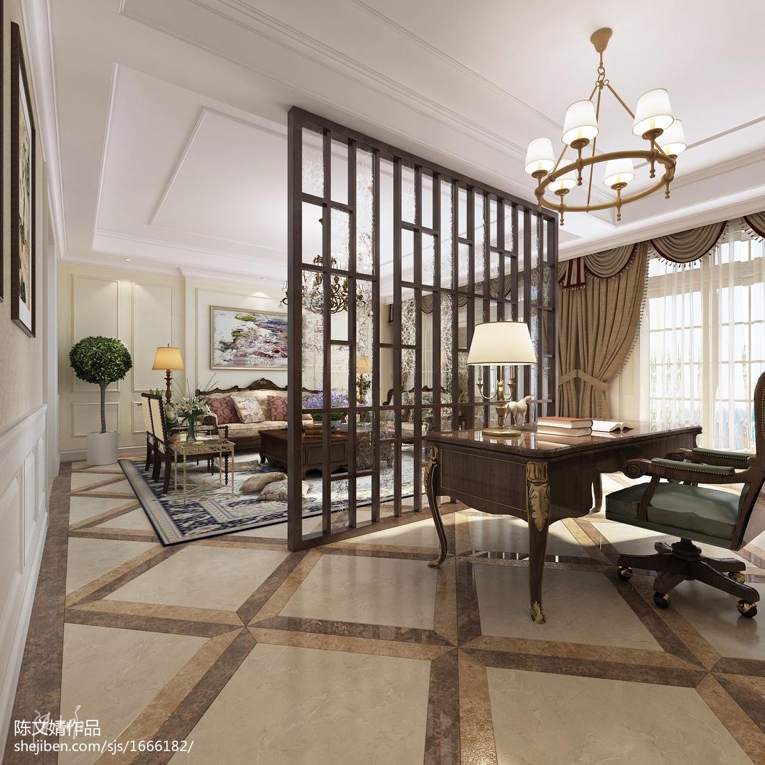 2018精选面积92平美式三居客厅装饰图片欣赏
