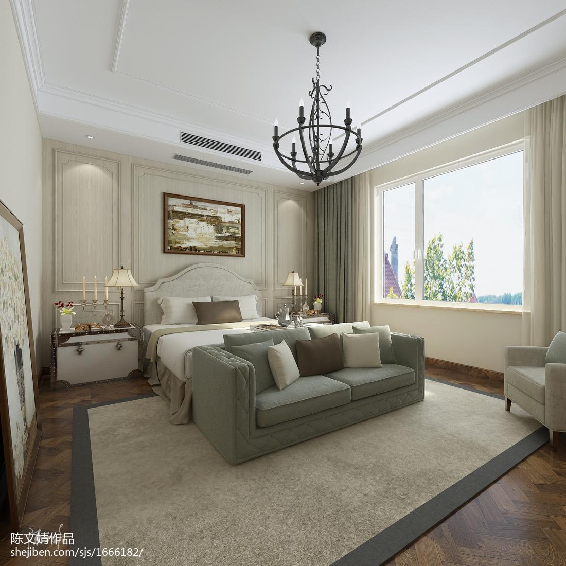精选面积106平美式三居卧室装修效果图片