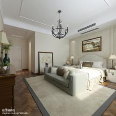 精美面积107平美式三居卧室实景图