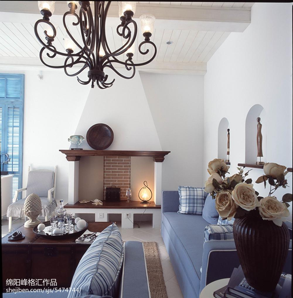 热门地中海复式客厅装饰图片欣赏