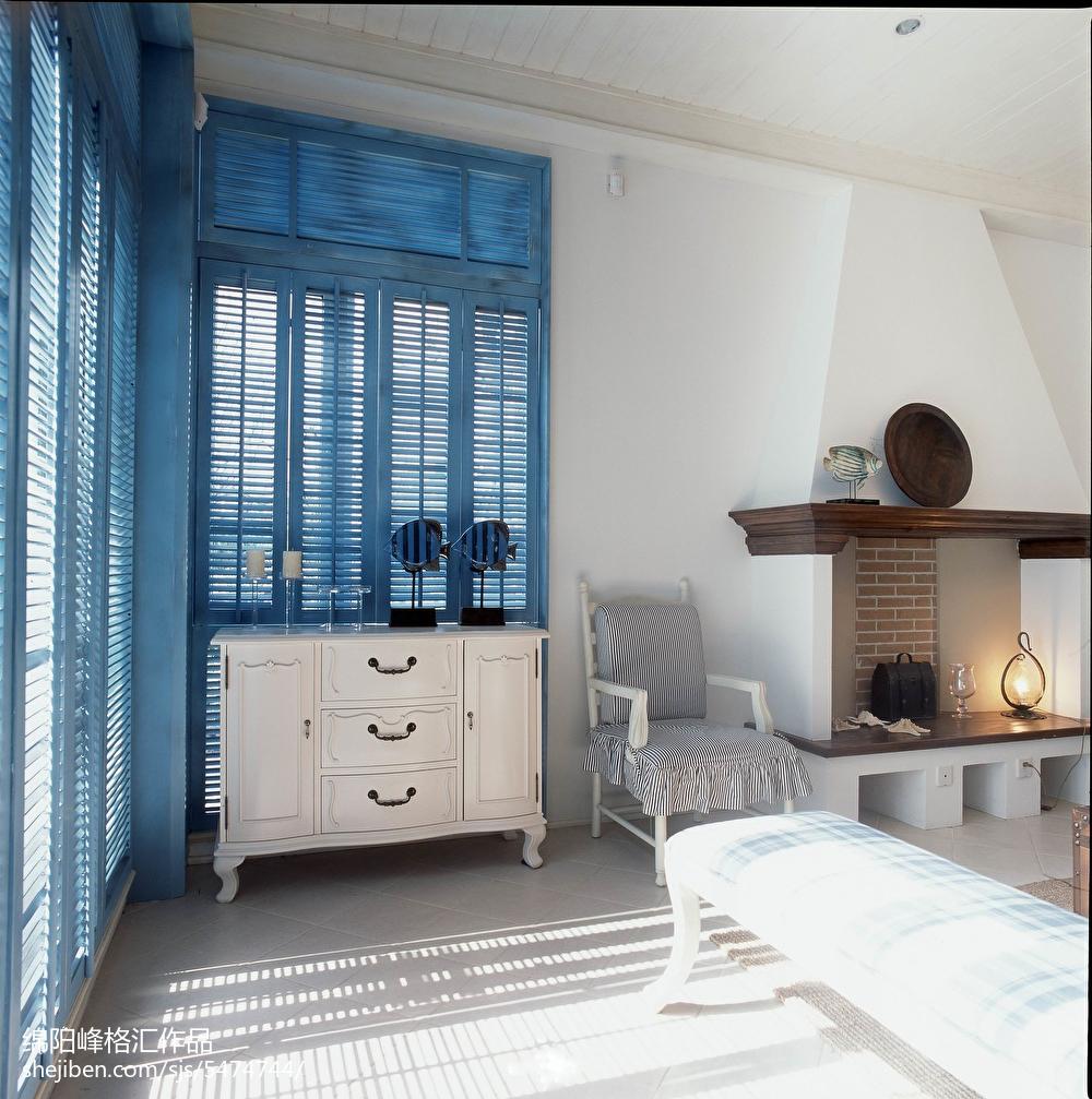 热门125平米地中海复式客厅实景图片大全
