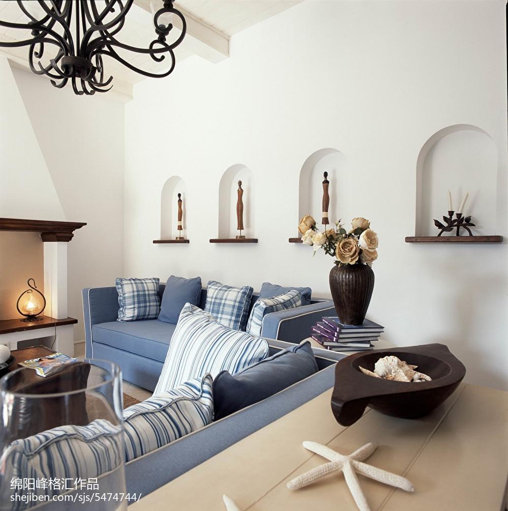 精选115平米地中海复式客厅装修实景图