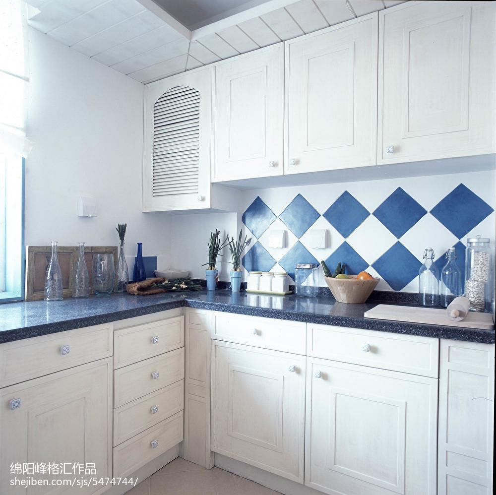 面积112平复式厨房地中海效果图片大全