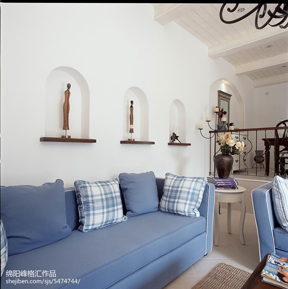 精选面积142平复式客厅地中海欣赏图片大全