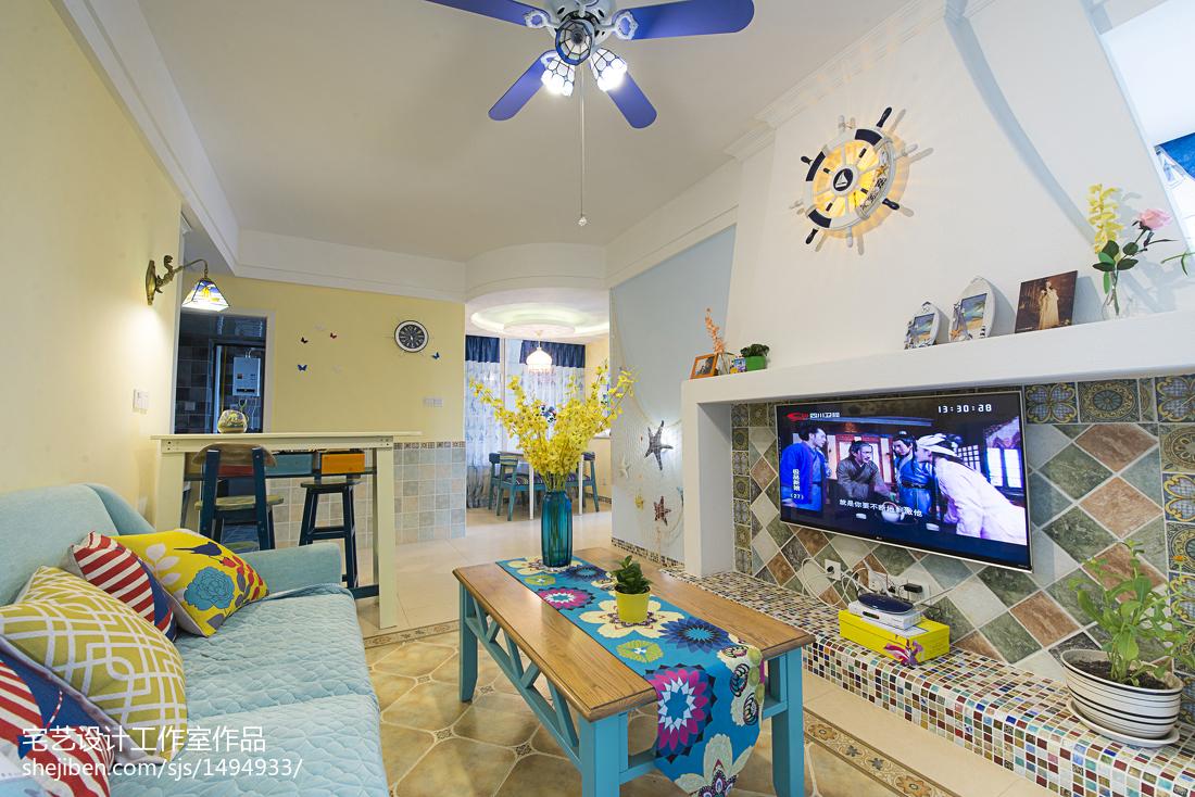 精美73平米二居客厅地中海效果图片