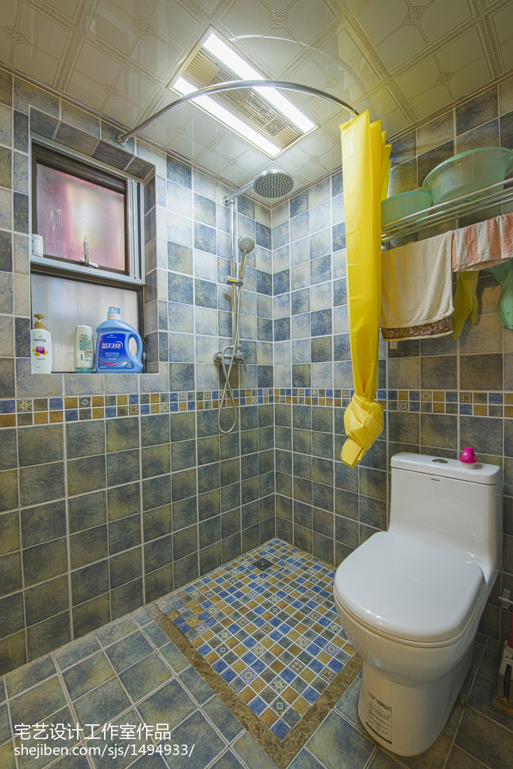 明亮89平地中海二居卫生间装饰美图