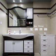 优雅119平美式三居卫生间装修案例