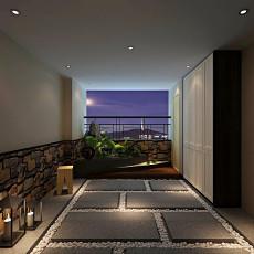 四居阳台中式装修实景图片欣赏