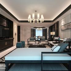 2018面积132平中式四居客厅装修设计效果图