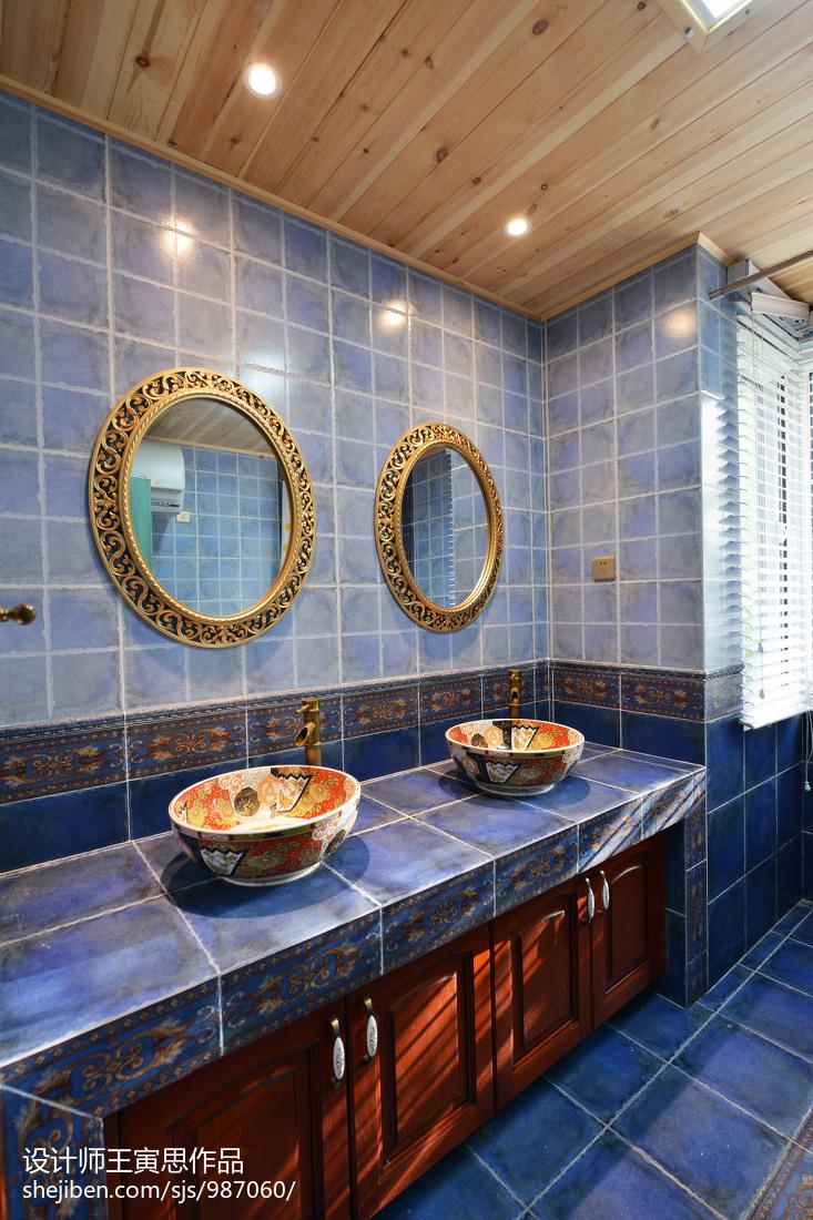 华丽570平美式别墅卫生间装修图片