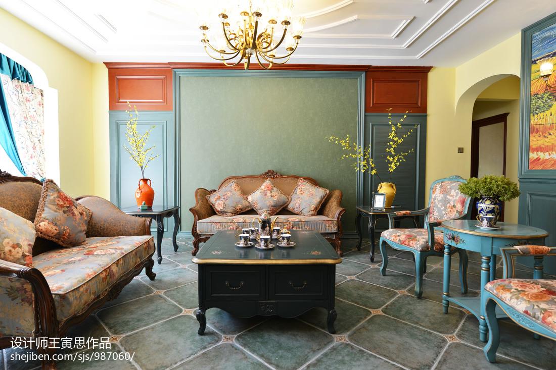 优雅981平美式别墅客厅设计效果图