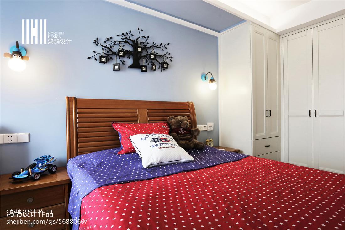 精美105平米三居卧室中式装修图片大全