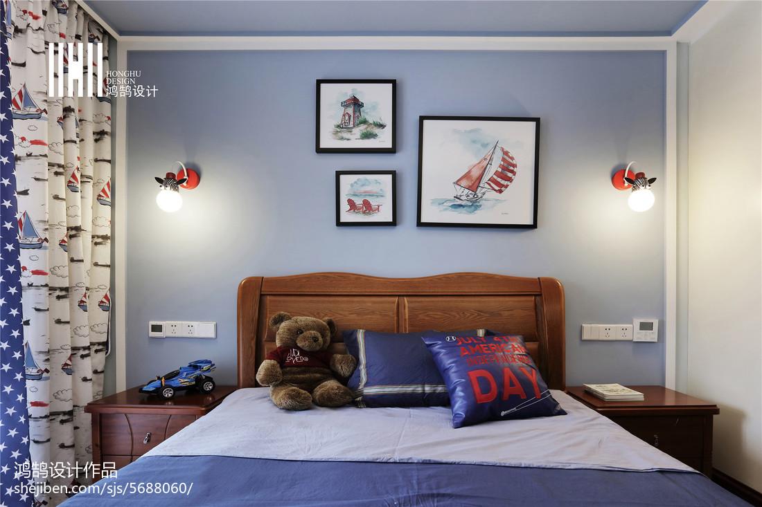 面積108平中式三居兒童房裝修圖片