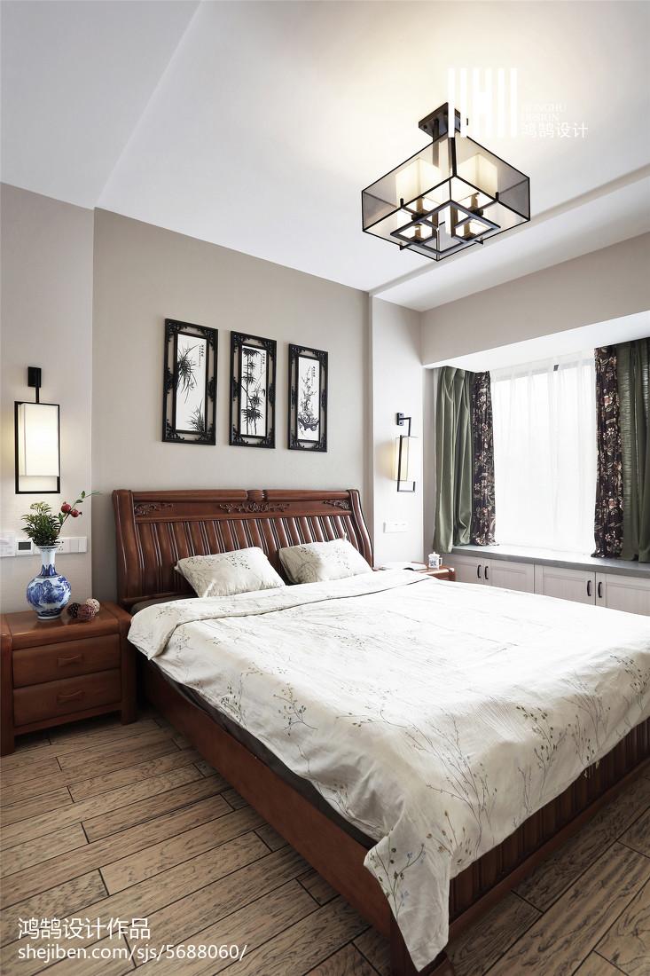 热门94平米三居卧室中式效果图片