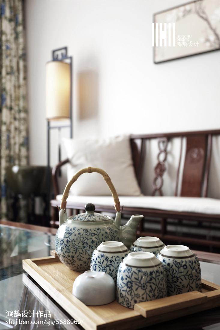 热门102平米三居客厅中式欣赏图
