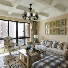 102平米三居客厅美式装修欣赏图