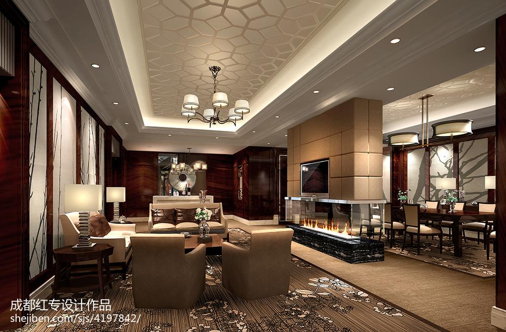 典雅新中式客厅装修大全