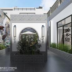 2018精选面积138平别墅花园中式装修欣赏图
