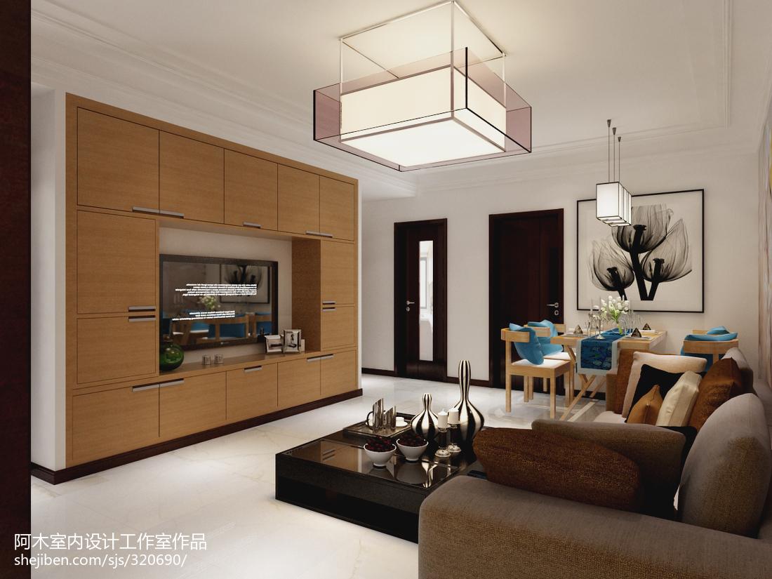 2018精选面积78平现代二居装修设计效果图
