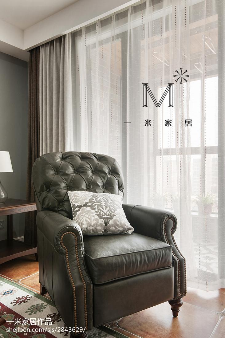 热门102平米三居客厅美式装修效果图