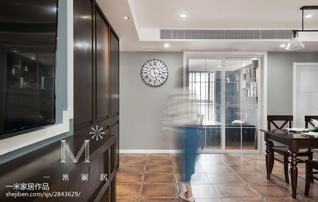 精美103平米三居客厅美式装饰图片