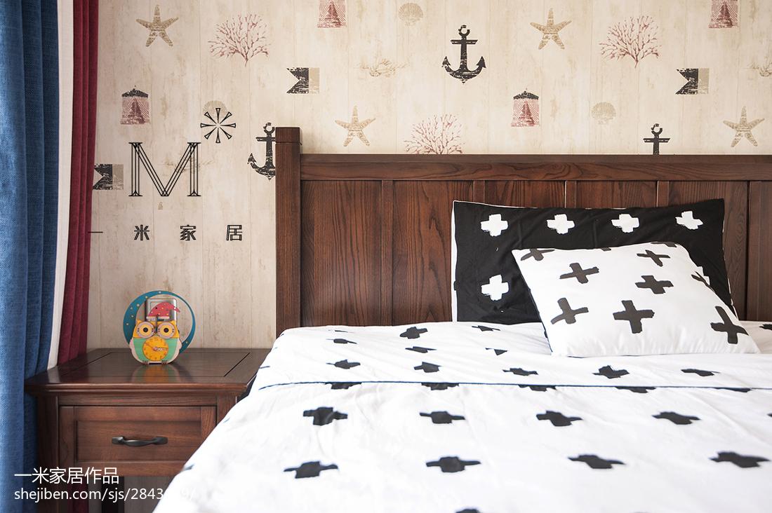 精美面积106平美式三居卧室效果图