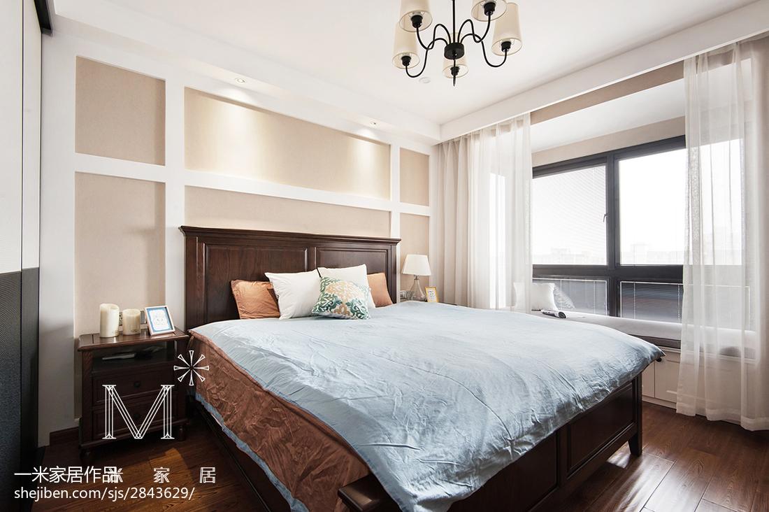 精美三居卧室美式装修效果图片