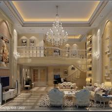 热门面积130平别墅客厅欧式装修设计效果图片欣赏