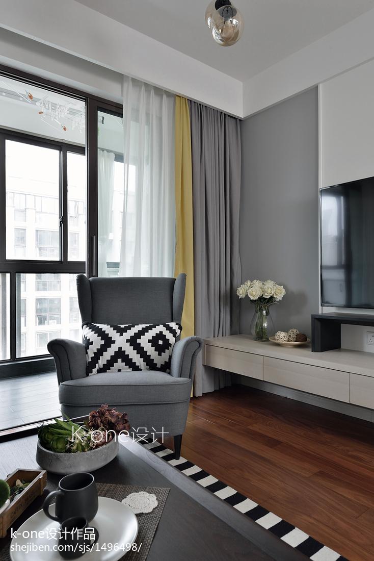 精美83平米二居客厅北欧欣赏图片