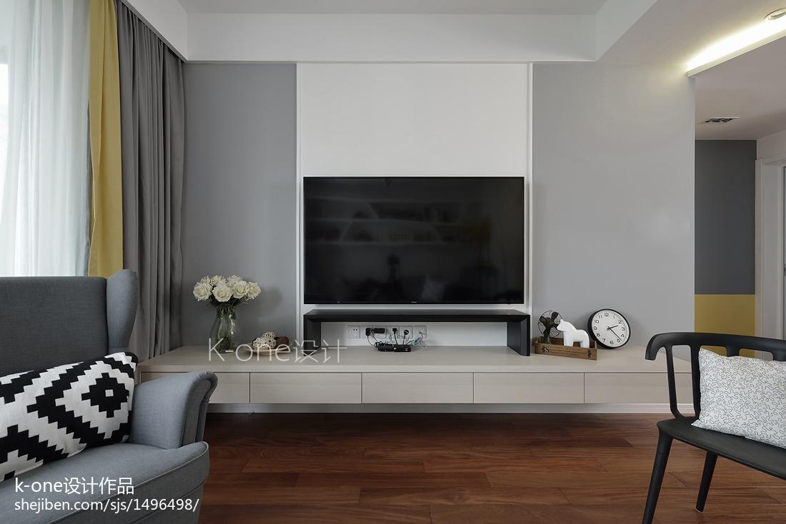 精选80平米二居客厅北欧效果图片大全