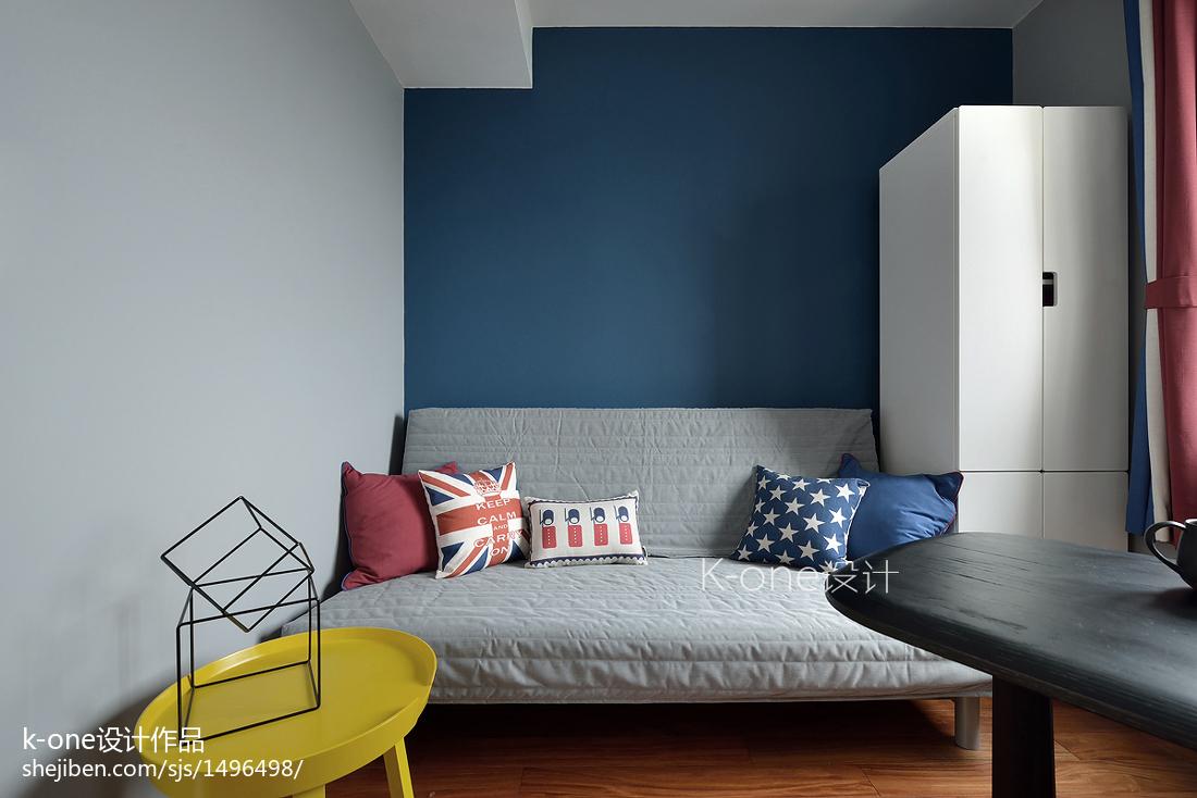 精选面积86平北欧二居客厅装修设计效果图片