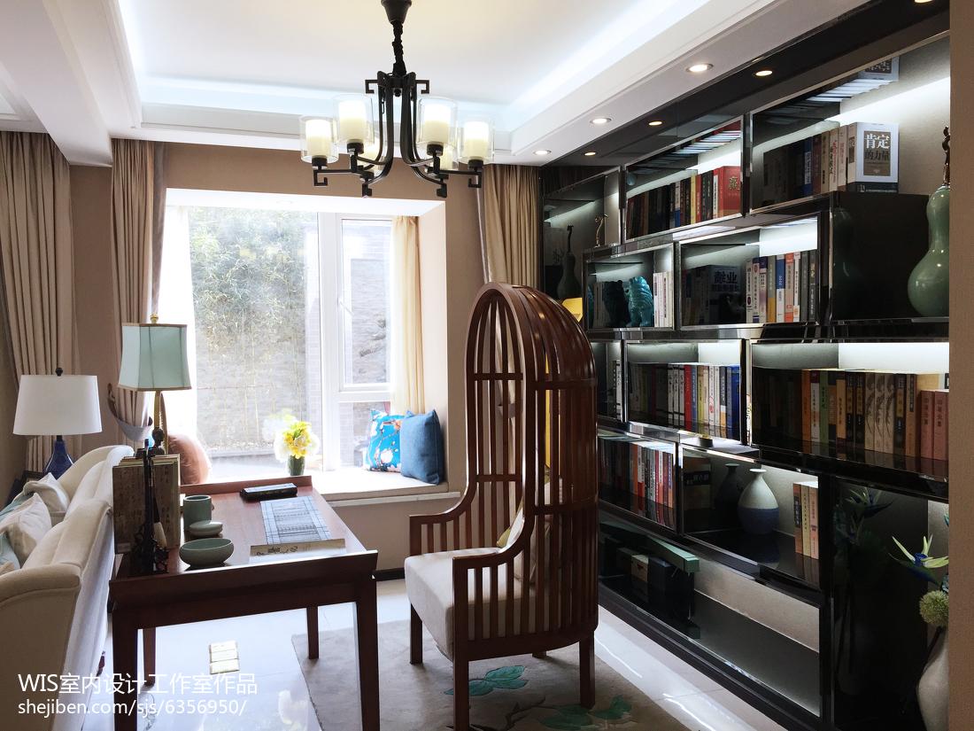复式古雅中式风书房设计