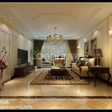 精美97平方三居客厅中式装修效果图