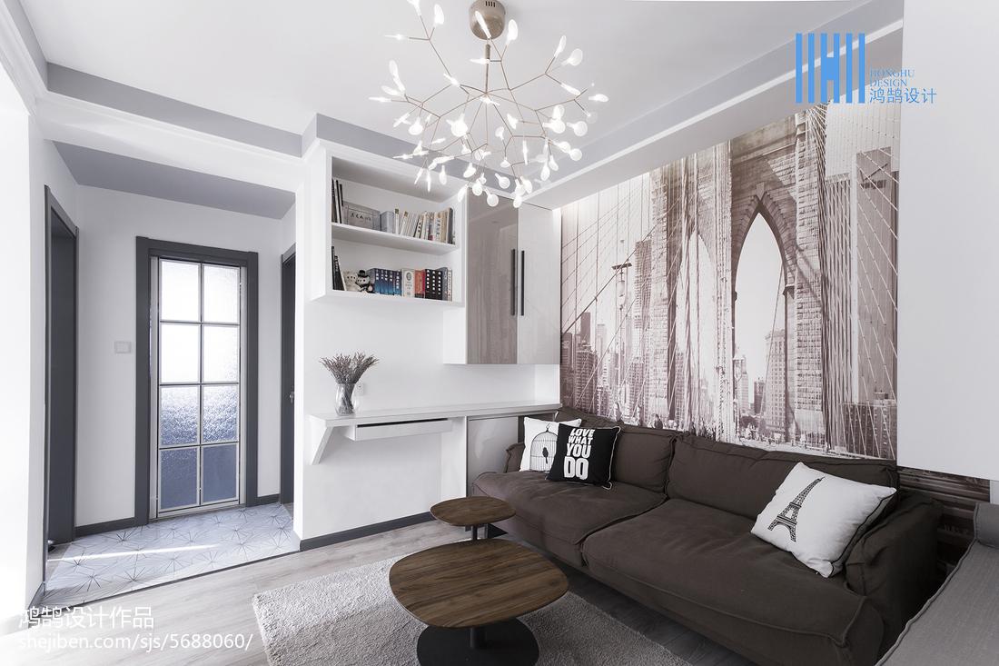 2018大小89平北欧二居客厅装饰图片大全