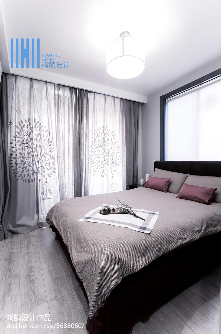 精美面积83平北欧二居卧室装修效果图