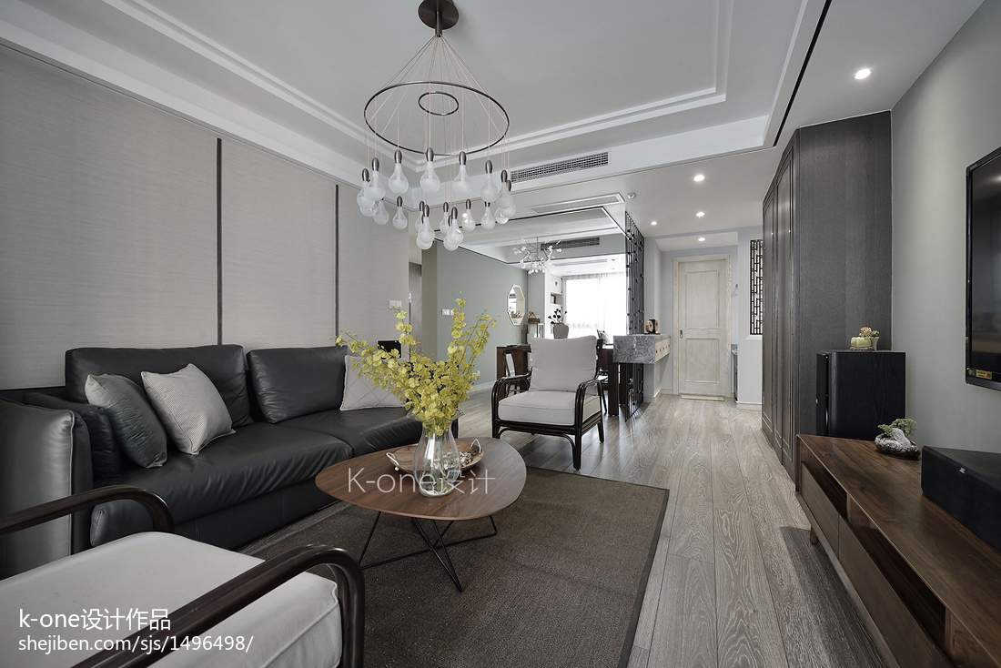 精选119平米四居客厅中式实景图片欣赏