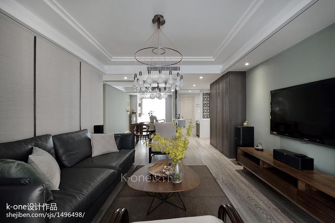 热门面积141平中式四居客厅装修实景图片欣赏