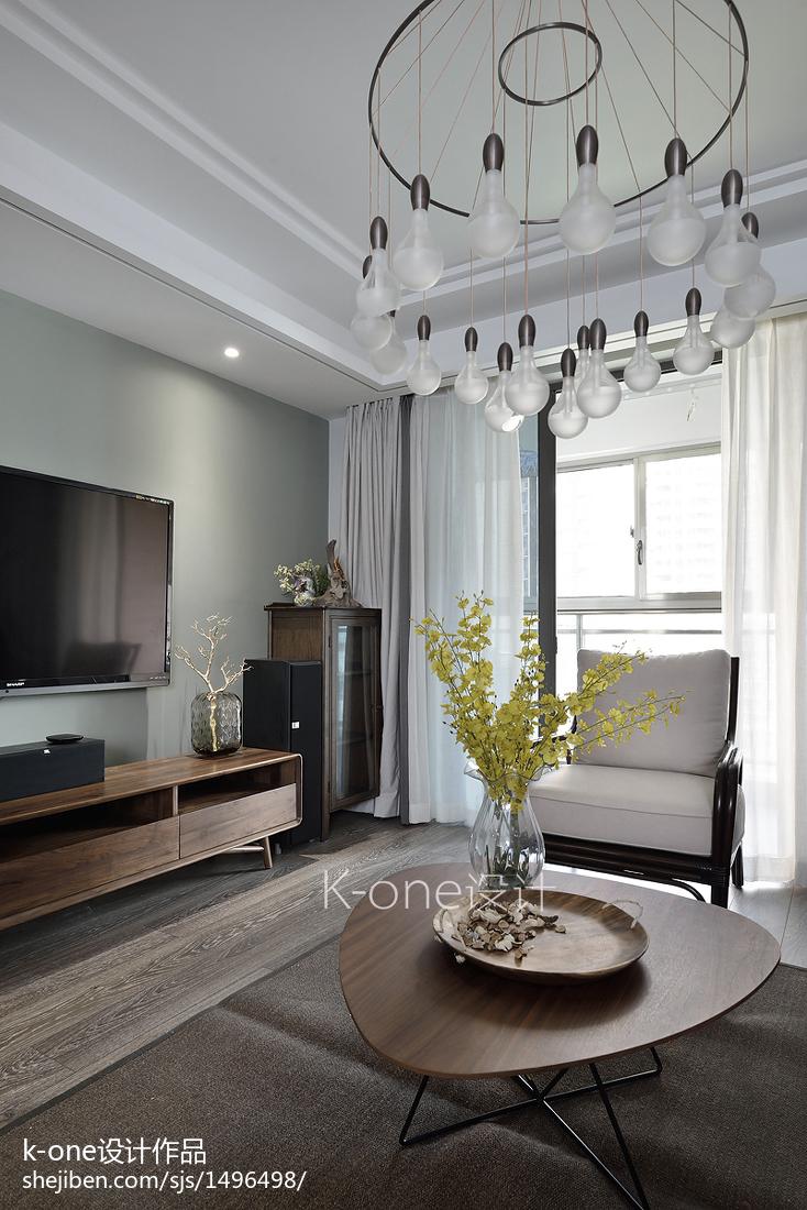 精美面积121平中式四居客厅装修图片大全