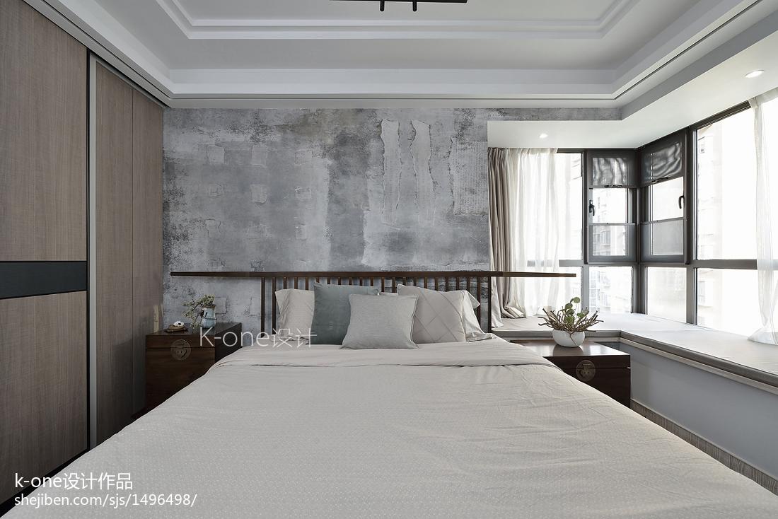 2018122平米四居卧室中式装修欣赏图片
