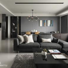 2018精选面积103平现代三居客厅装修设计效果图片欣赏