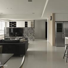 108平方三居客厅现代装修实景图片欣赏
