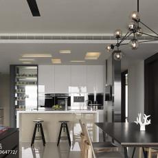 98平米三居餐厅现代装修实景图片